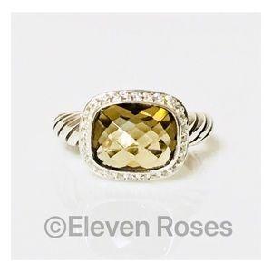 David Yurman Smoky Quartz & Diamond Noblesse Ring